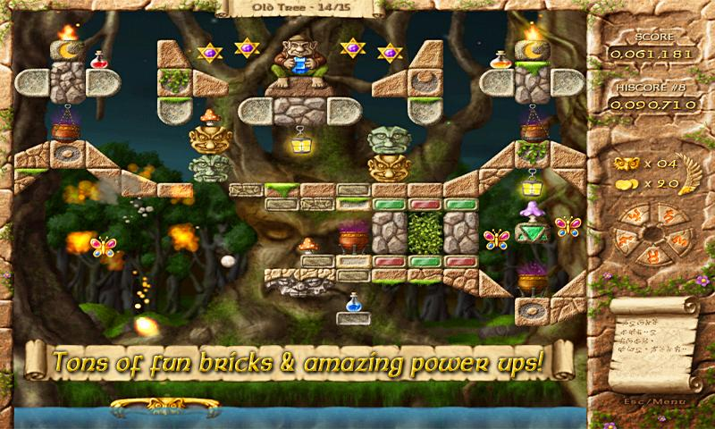 Fairy Treasure Brick Breaker -- screenshot