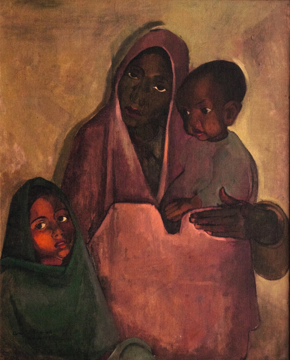 Mother India - Amrita Sher-Gil — Google Arts & Culture