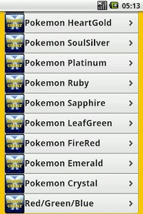 Pokemon All Series Cheats Free - screenshot thumbnail