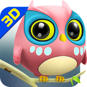 Owl 3D Wallpaper