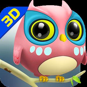 Owl 3D Wallpaper