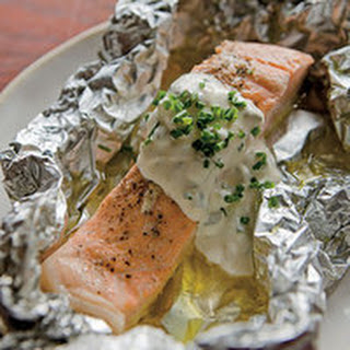 Salmon Boil-in-Foil Packets with Tartar Sauce