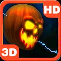 Lightning Halloween Pumpkin 3D icon