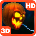 Lightning Halloween Pumpkin 3D icon