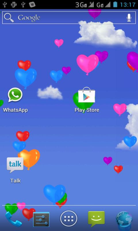 Heart Balloons Live Wallpaper - screenshot