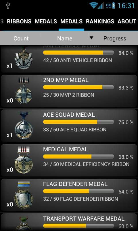 Battlefield BF3 Stats Premium - screenshot