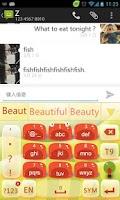 Screenshot of Go Keyboard Gel Theme