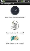 Screenshot of Fuel consumption Lite