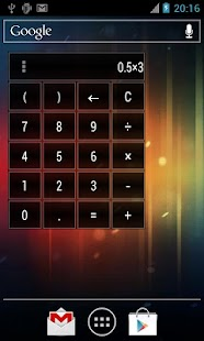 Calculator Widget 10 themes - screenshot thumbnail