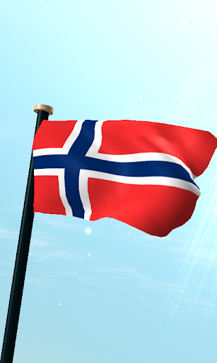 挪威旗3D动态壁纸