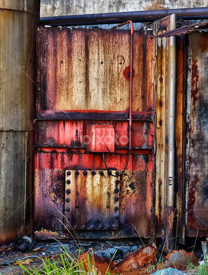 Door of Incenerator, Factory by Ferdinand Ludo - Artistic Objects Other Objects ( high temp door, hot, incenerator,  )