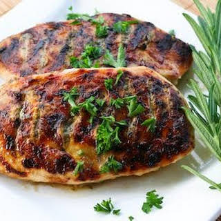 Grilled Chicken Recipe with Sage, Rosemary, and Garlic Dried Herb Rub.