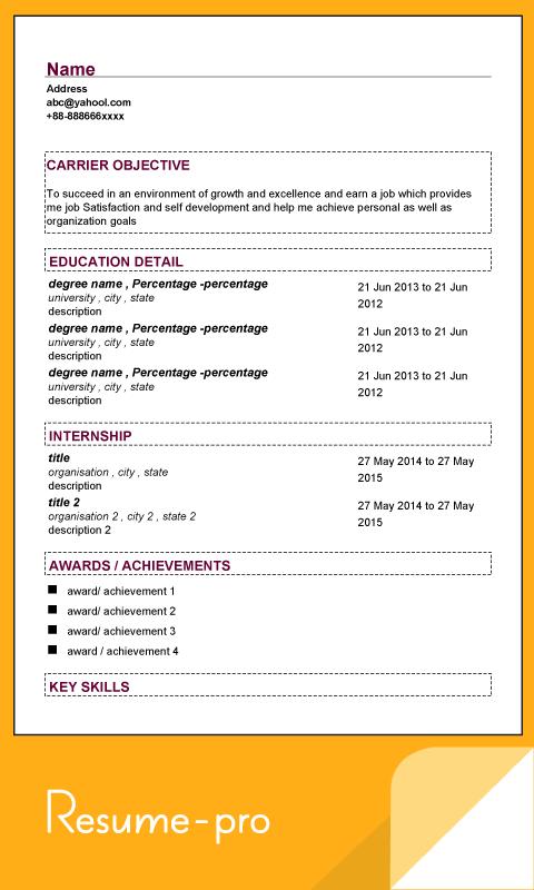 Super Resume Pro- screenshot