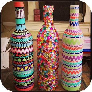 Image result for diy art projects with bottles