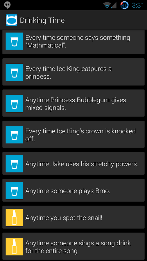 Adventure Time Drinking Game - screenshot