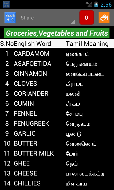 English words to tamil meaning pdf