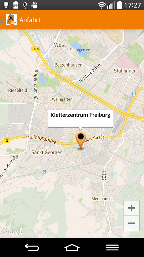 DAV Kletterzentrum-Freiburg – Screenshot