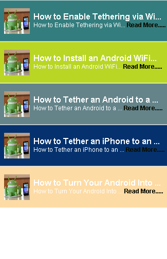 Tether Mobile Router