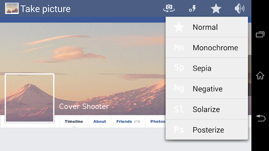 Cover Camera for FB - screenshot thumbnail