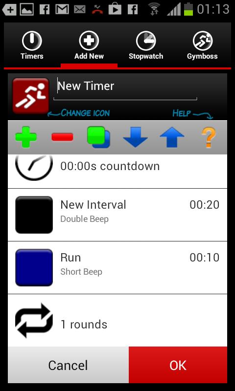 Gymboss Interval Timer - screenshot