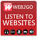 Web2go - Listen to news icon
