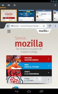 Firefox para Android - screenshot thumbnail