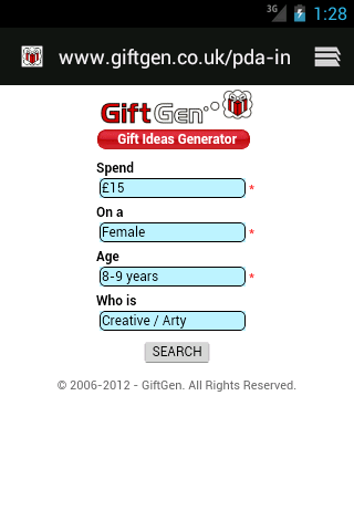 GiftGen - screenshot
