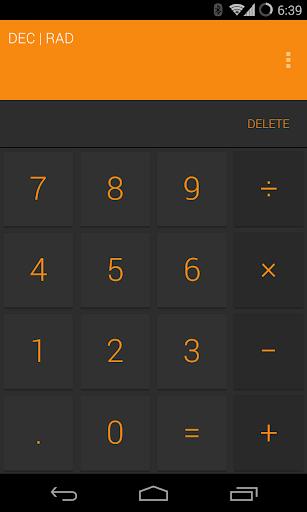 Calculator Orange Splash