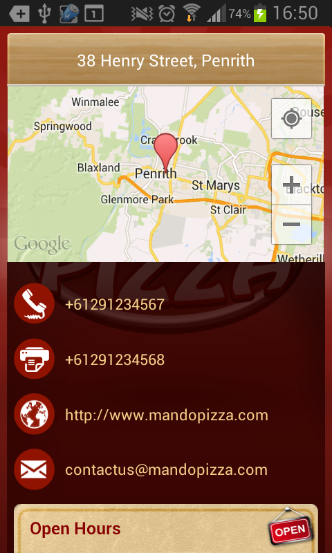 Mando Pizza- screenshot