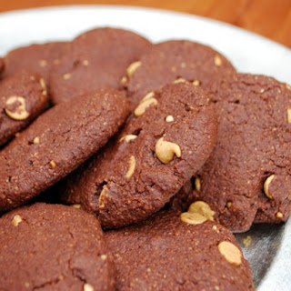 Chocolate Almond Cookies.