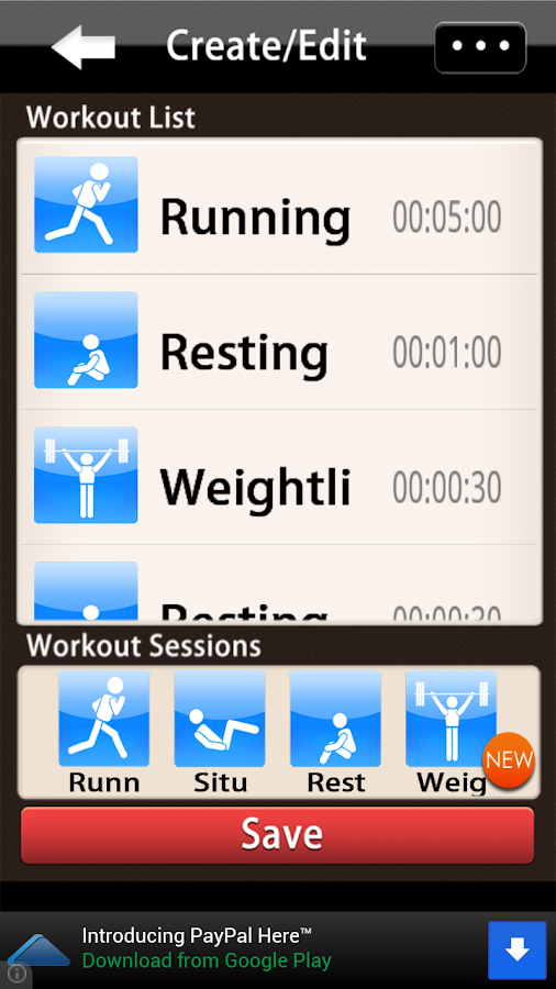 Workout Organizer - screenshot