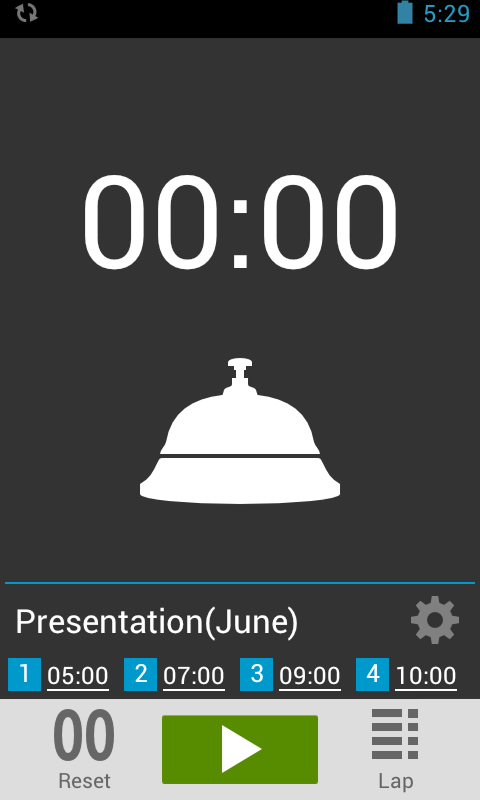 Presentation Timer- screenshot