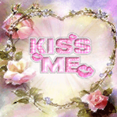 Flower Heart Kiss Me Live Wall