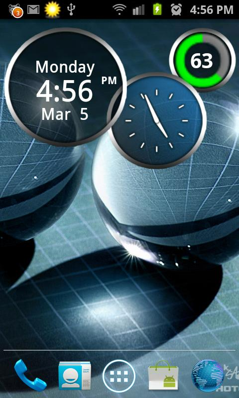 Rings Digital Weather Clock - screenshot