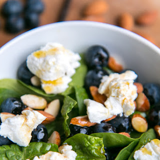 Salad With Blueberries, Almonds And Goat Cheese.