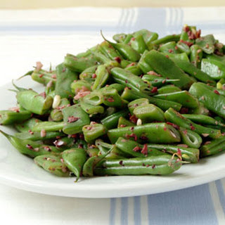 Rattlesnake Beans with Olive Tapenade.
