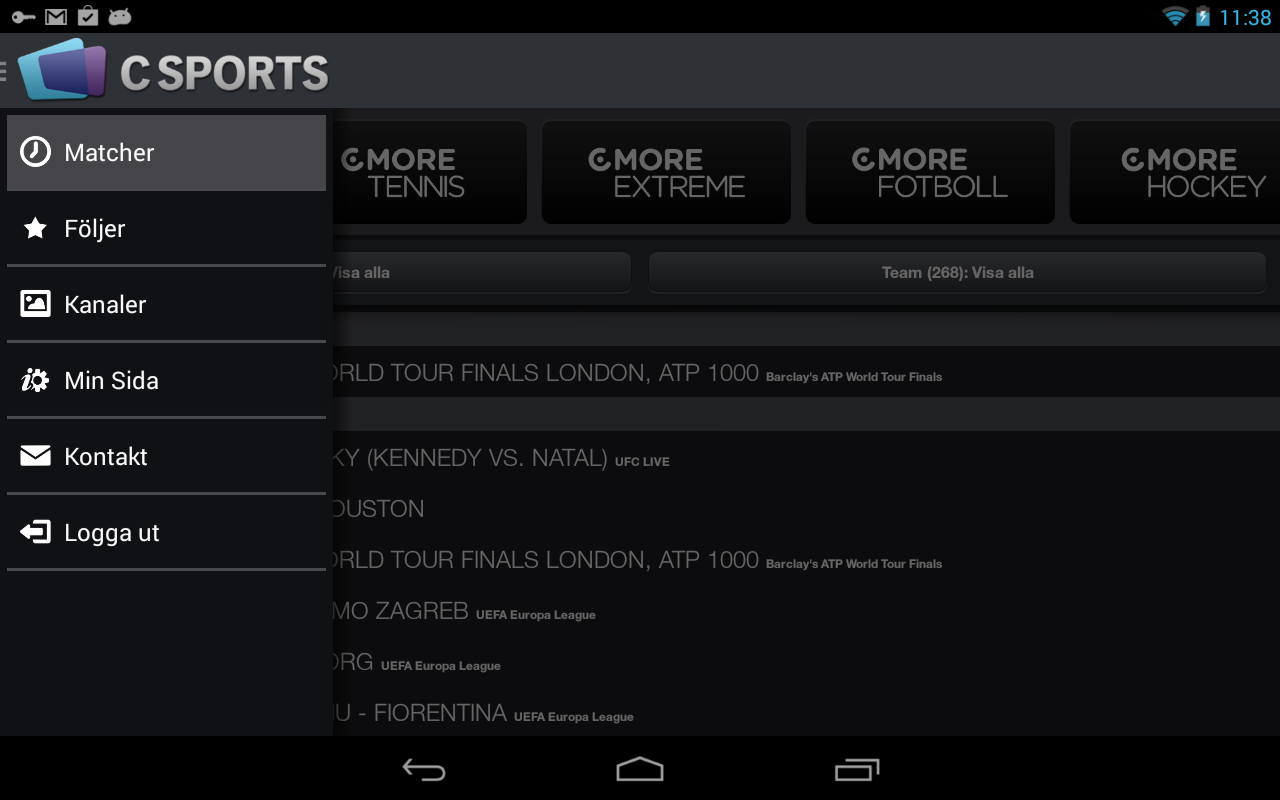 CSports - screenshot