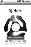 Screenshot of Dj Horn Soundboard