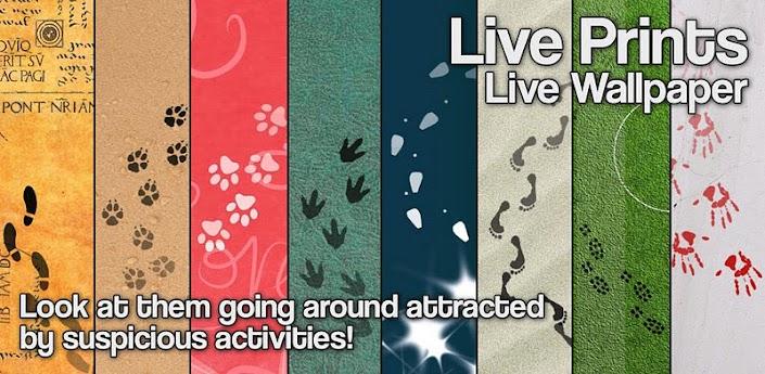 Скачать живые обои Live Prints для андроид