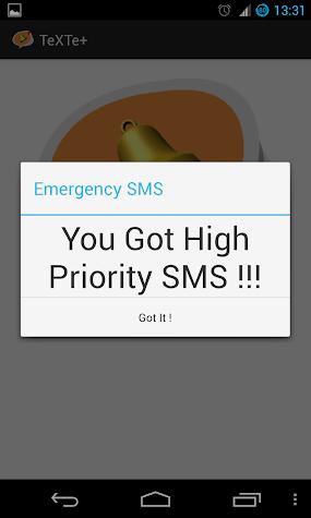 TeXTe+ Enhaced Emergency SMS Screenshot