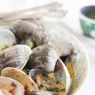 Herb Coconut Milk Steamed Clam.