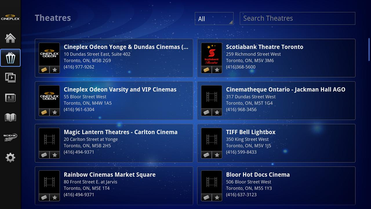 Cineplex - Google TV- screenshot