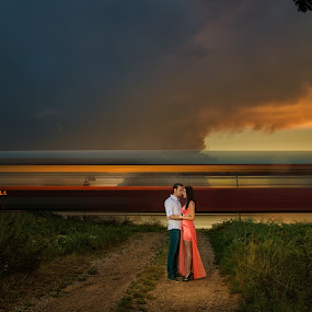 The long kiss by Marius Igas - People Couples ( exposure, clouds, couple )