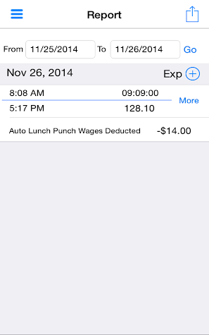 iTimePunch - Work Time Clock Screenshot