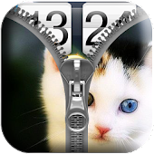 Free Download Cat Zipper Screen Lock APK for Samsung