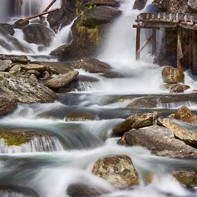 Sagfossen by Lisa Stornes - Landscapes Waterscapes