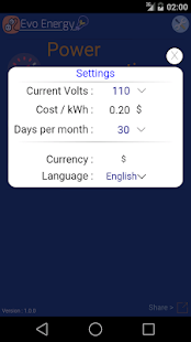 EvoEnergy - Cost Calculator- screenshot thumbnail