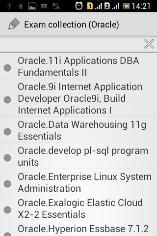 Exam collection Oracle