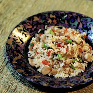 Leeks, Pepper, Asparagus And Mushroom Pilaf