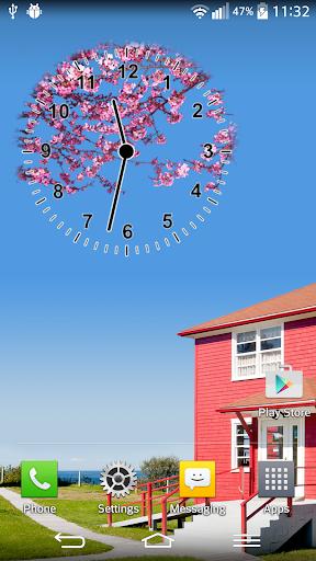 Sakura Analog Clock